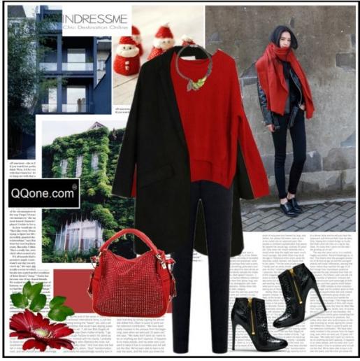 Теплый безразмерный свитер, узкие брюки и широкое пальто - стильный городской образ!
