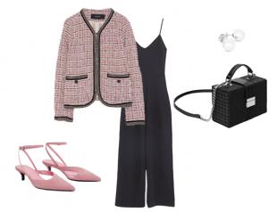 Брючный комбинезон с пиджаком в стиле Chanel
