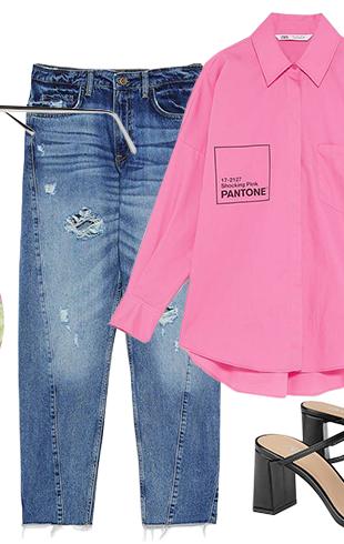 Яркий look с любимыми джинсами