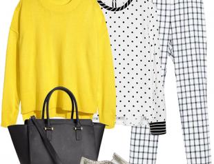 Модные принты 2015: горох и клетка