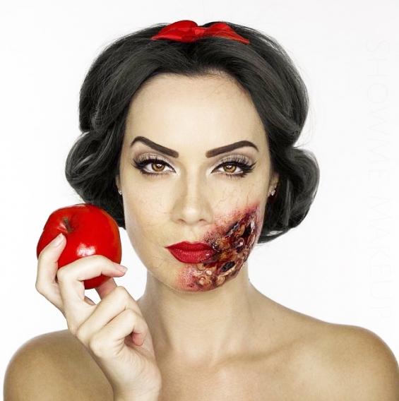 machiaj halloween petrecere personaje din filme alba ca zapada dinti vampiri make-up