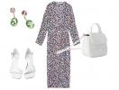 Весенняя романтика с принтованным платьем