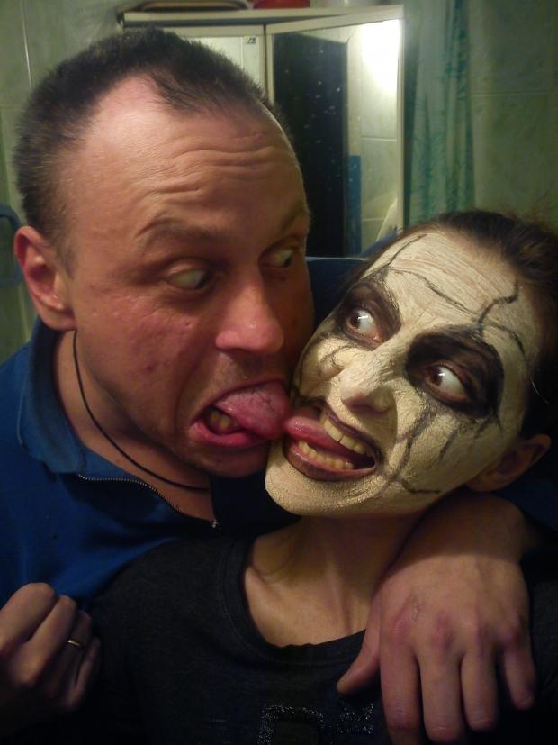 Косметический салон от мужа, маска удалась :-)))