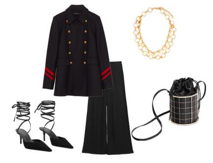 Верхняя одежда в стиле военной шинели не теряет своей актуальности никогда, особенно, когда на улицах начинает холодать. В комплекте с широкими расклешенными брюками ты сможешь ярко выделиться из толпы.