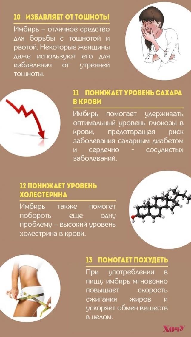 Почему стоит включить имбирь в свой рацион: 13 волшебных свойств пряности (инфографика) - фото №4