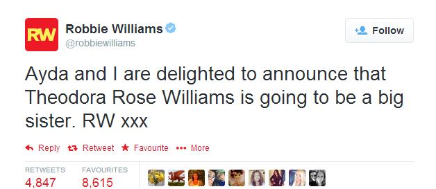 Робби Уильямс станет отцом второй раз - фото №1