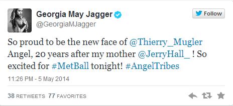 Джорджия Мэй Джаггер стала лицом аромата Angel от Thierry Mugler - фото №1