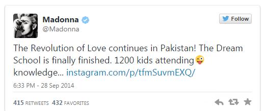 Мадонна открыла школу в Пакистане - фото №1