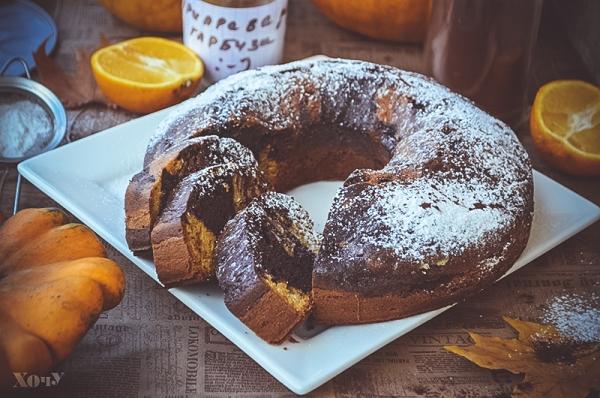 шоколадно-тыквенный кекс рецепт