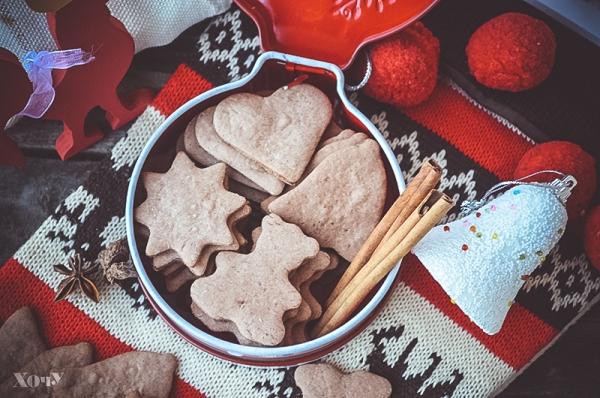 праздничное рождественское печенье