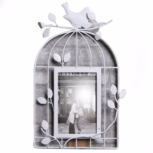оамка для фото в виде птичьей клетки