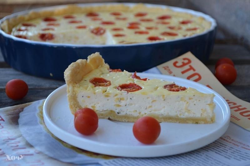 пирог с томатами и творогом фото