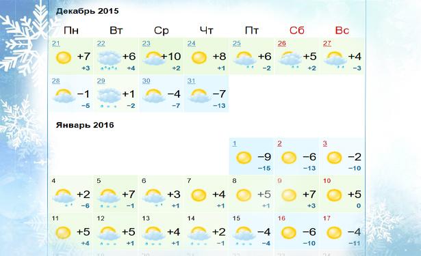Какой будет погода на Новый Год 2016 в Украине - фото №1