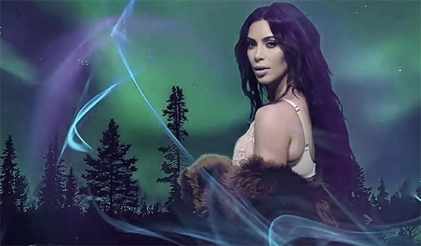 Новая фотосессия сексуальной Ким Кардашьян: в шубе и нижнем белье (ФОТО) - фото №1