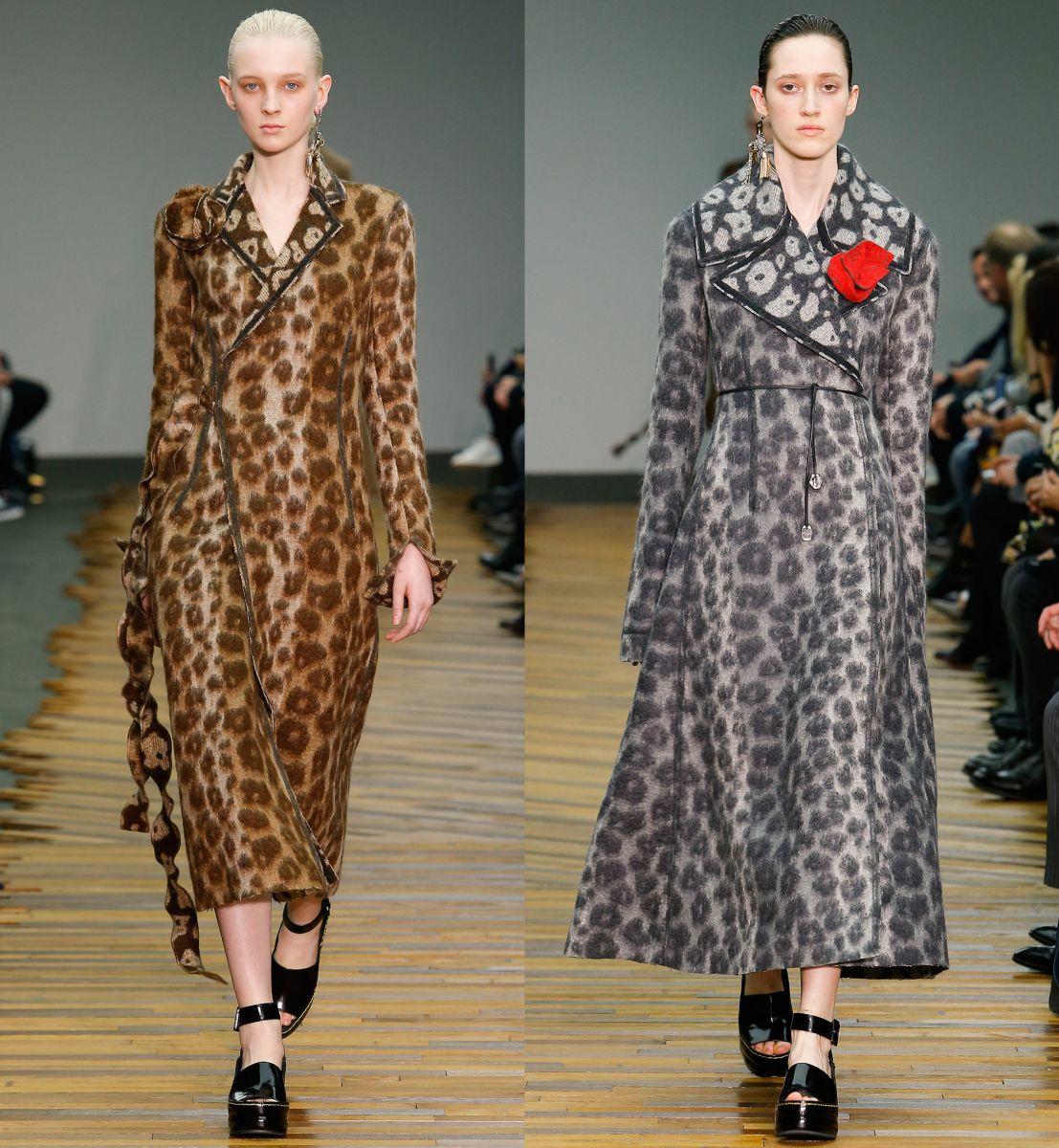 Пальто с леопардовым принтом Céline - фото №1