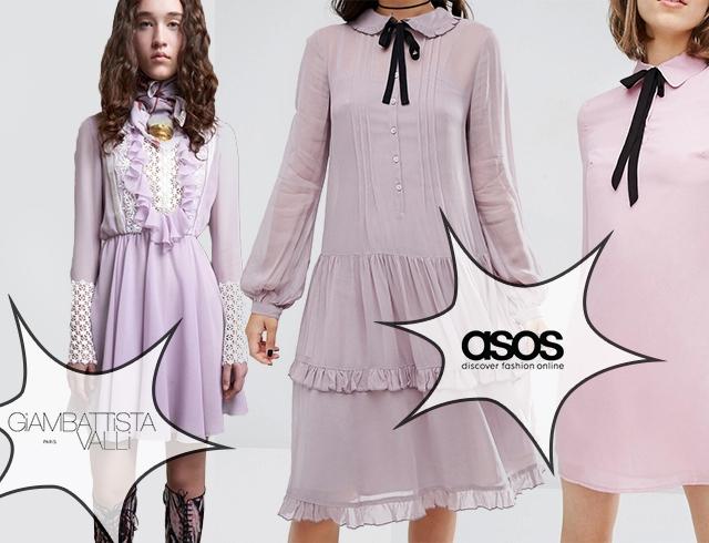Сиреневый цвет в одежде 2016 Сиеневое платье