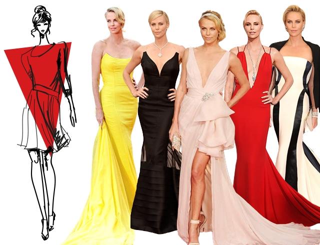 Как выбрать вечернее платье по типу фигуры перевернутый треугольник