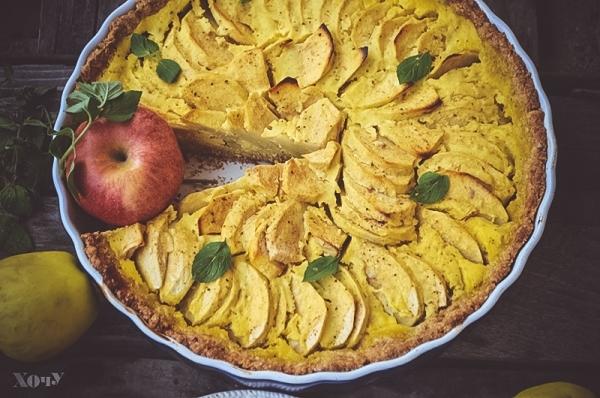 овсяный пирог с яблоками рецепт приготовления