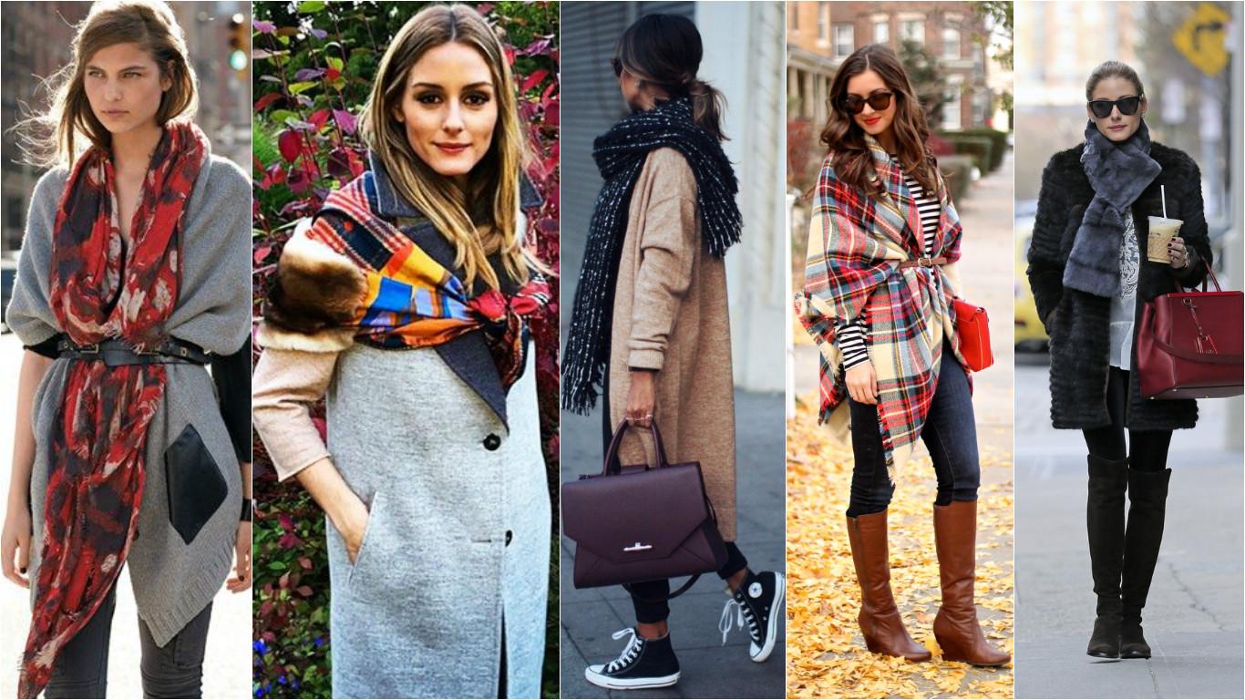 Как носить шарф осень-зима 2015-2016