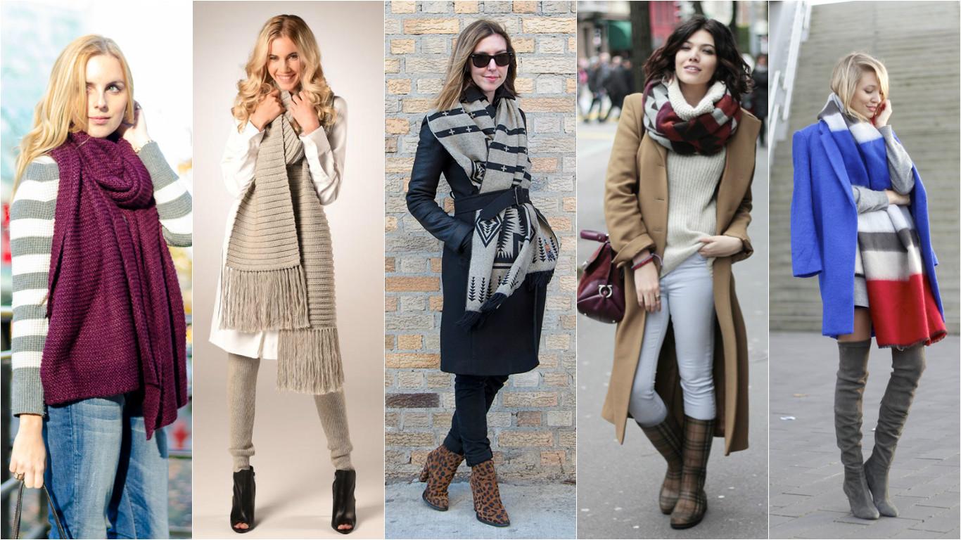 Как красиво носить шарф осенью 2015