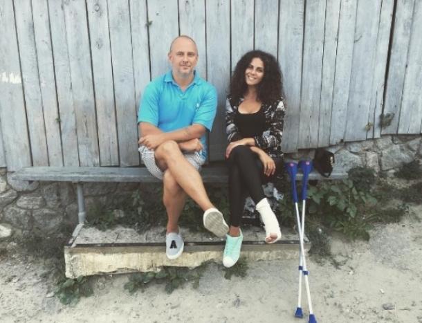 Свадьбе Насти Каменских с Потапом помешал ее неудачный прыжок с парашютом - фото №2