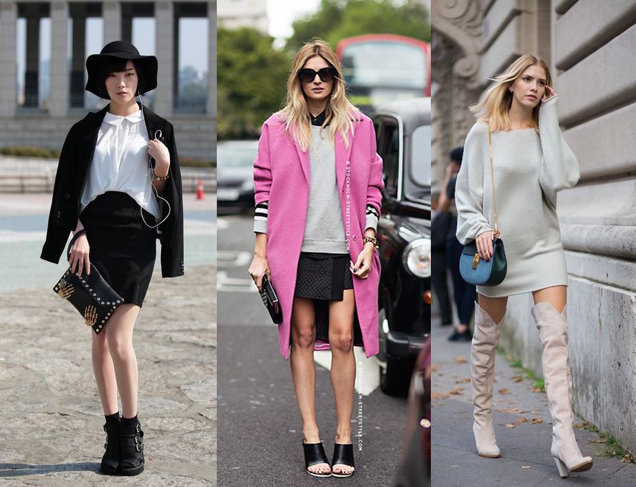 С чем носить мини-юбки в холодное время года - фото №2