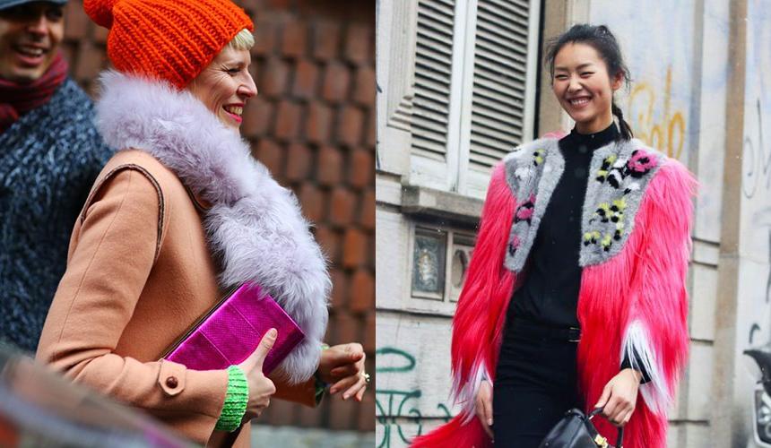 Как носить цветной мех - фото №3