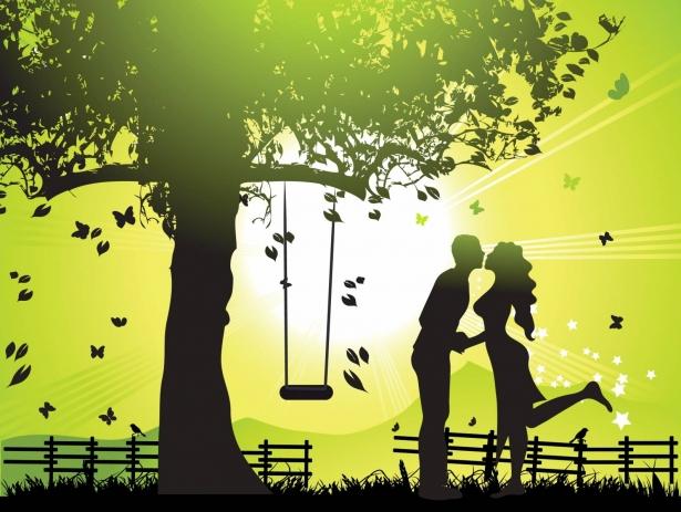 день поцелуев открытка