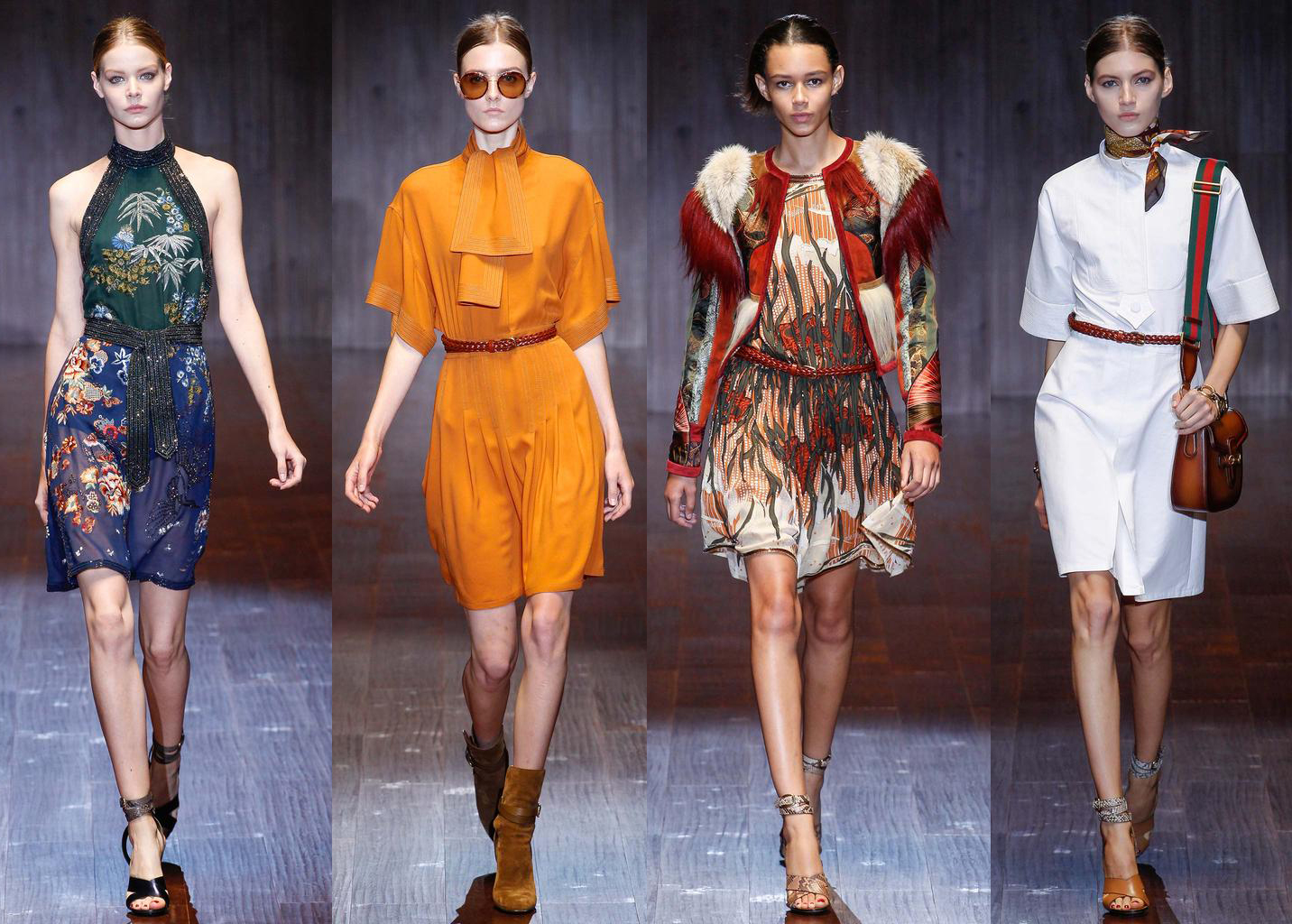 Неделя моды в Милане: Gucci, весна-лето 2015 - фото №1