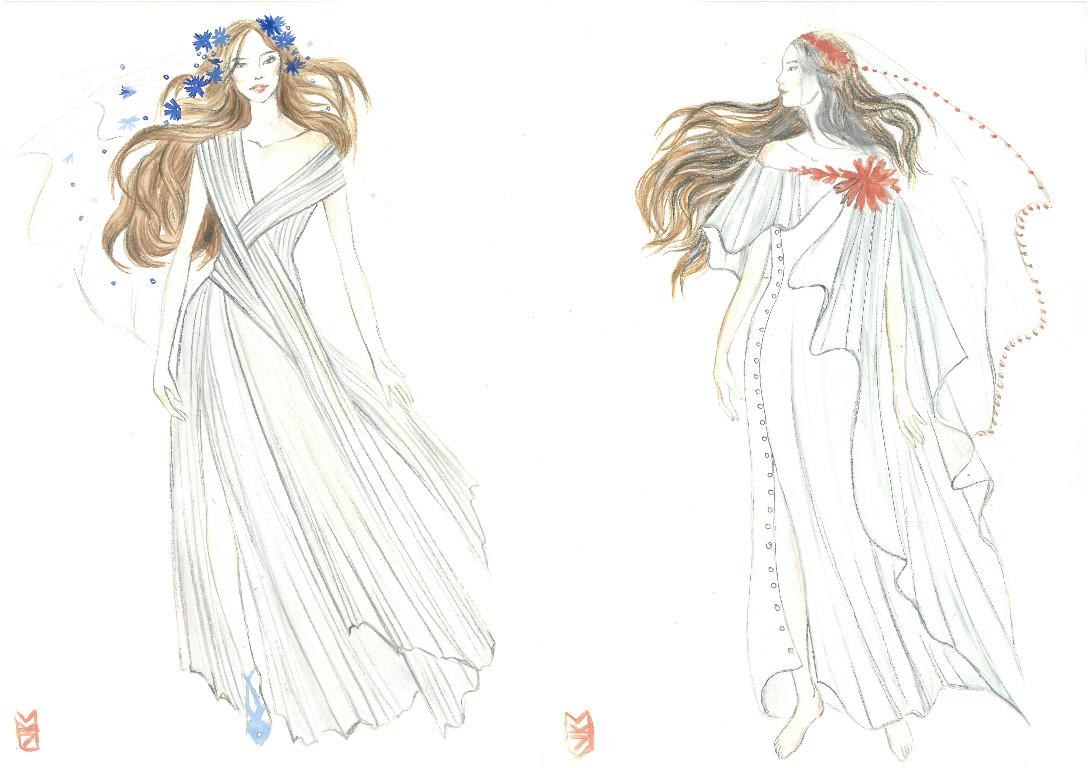 Свадебное платье для Регины Тодоренко. Спецпроект (эскизы+комментарии стилиста) - фото №24
