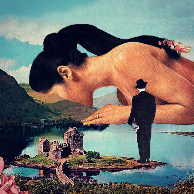Любовь и космос: художница создает меткие коллажи в стиле сюрреалистического ретро - фото №1