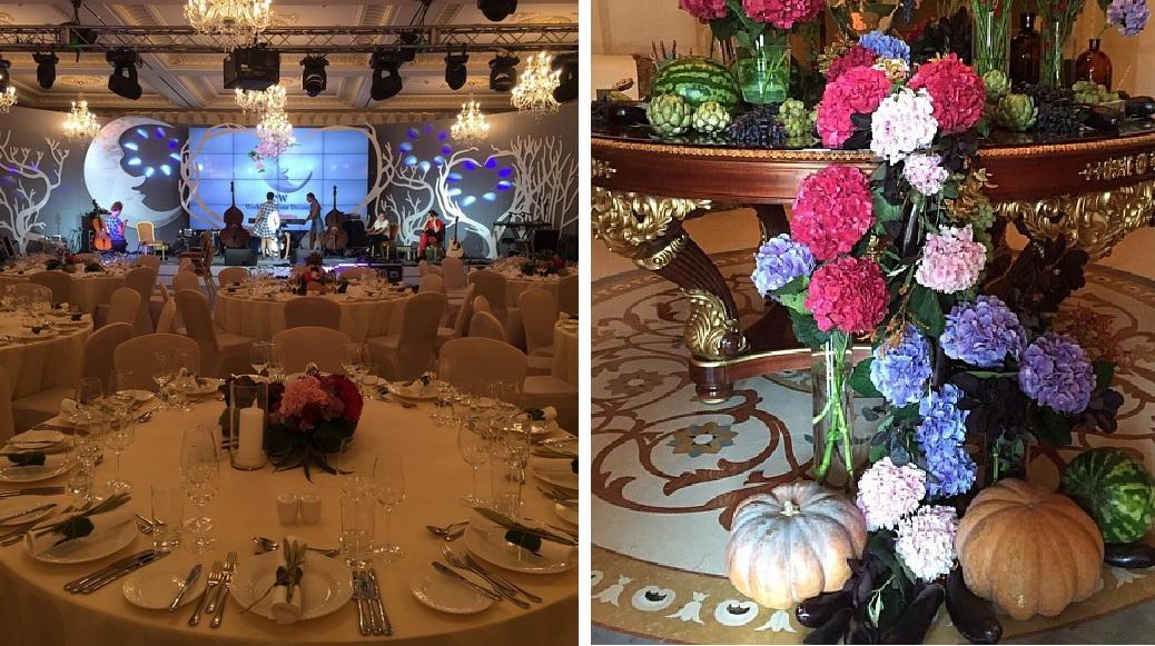 Праздничный декор на свадьбе Арфуша