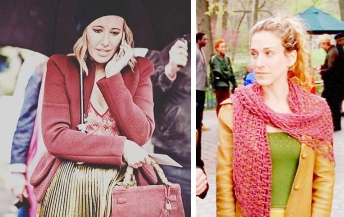 Ксения Собчак в Париже похожа на Керри Брэдшоу