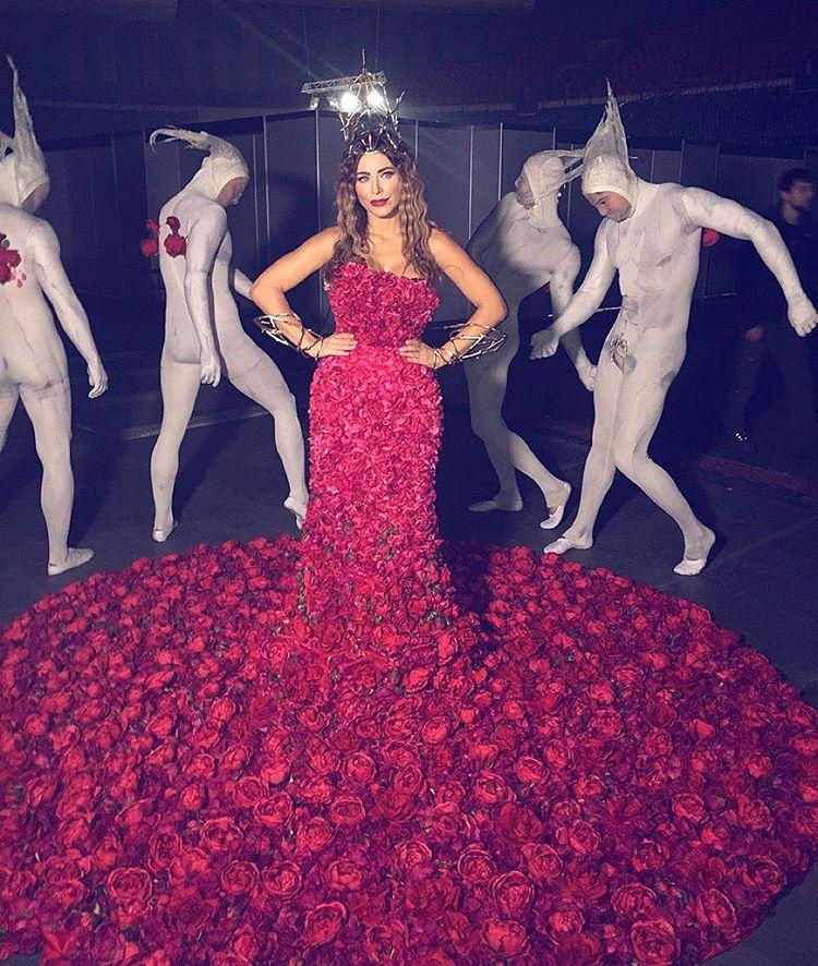 ани лорак платье из роз