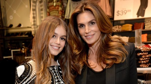 Синди Кроуфорд с дочерью Кайей