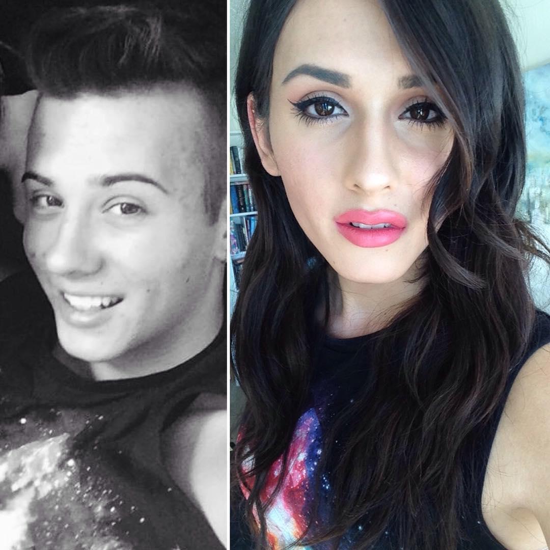 Превращение: в сети появился флешмоб, рамках которого трансгендеры делятся фотографиями «до и после» - фото №5