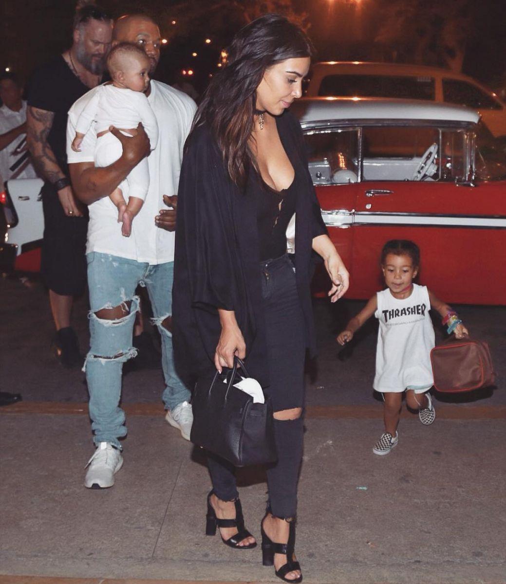 семья Ким и Канье