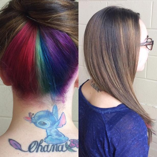 В школе ругать не станут: скрытая радуга в волосах – новый тренд, которому обрадовались школьницы - фото №2