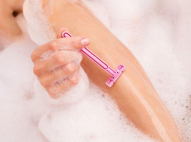 бритье ног фото