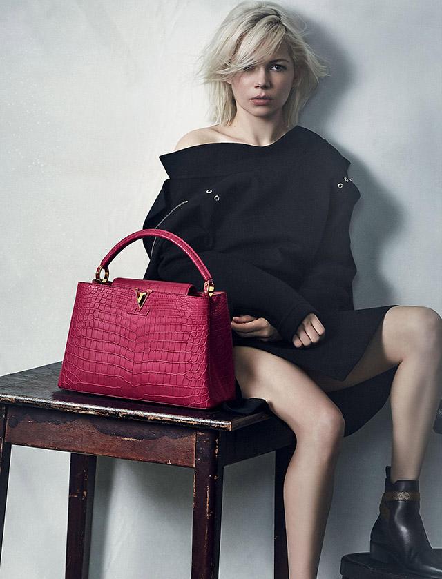Мишель Уильямс в рекламе Louis Vuitton