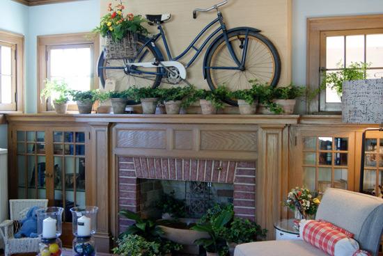 Интересная деталь в интерьере: велосипед - фото №3