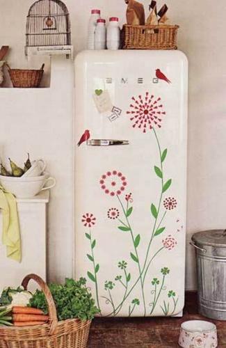 как реставрировать старый холодильник