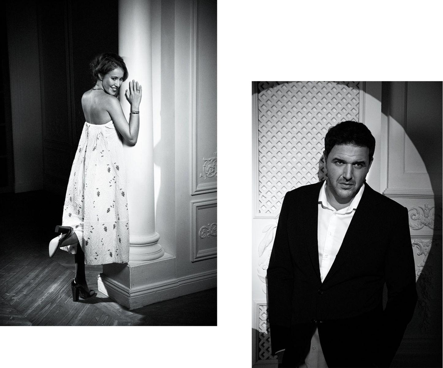Ксения Собчак и Максим Виторган снялись в стильной фотосессии: история знакомства пары - фото №6