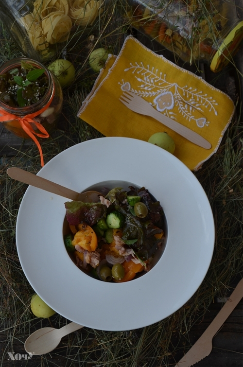 Кулинарная колонка Оли Мончук. Салат в банке - фото №14