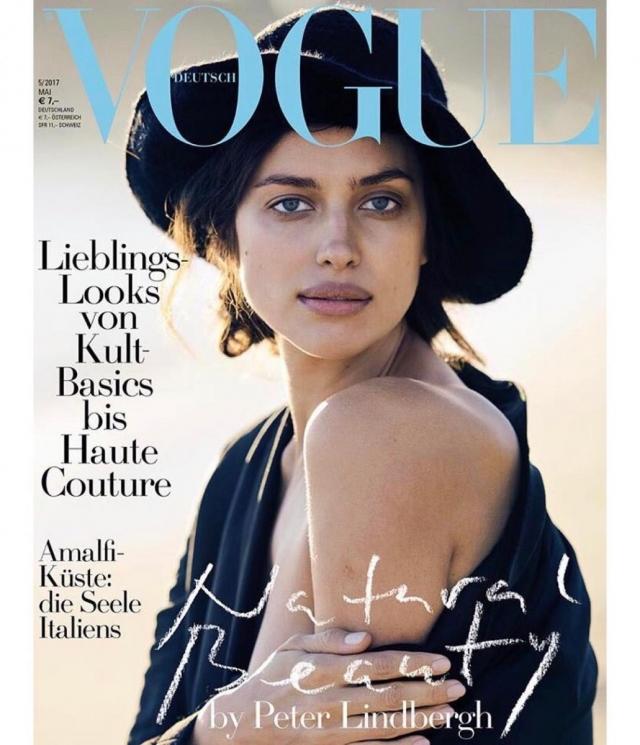 Беременная Ирина Шейк снялась без макияжа для Vogue (ФОТО) - фото №1