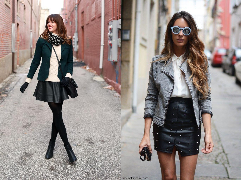 С чем носить мини-юбки в холодное время года - фото №3