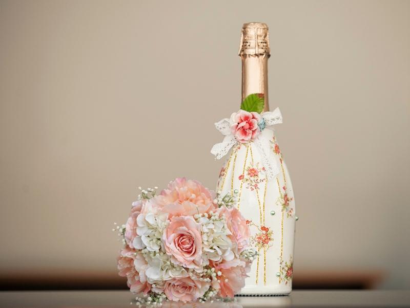 бутылка шампанского декупаж фото