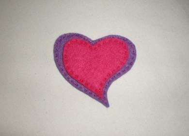Валентинка hand made: магнит на холодильник - фото №6