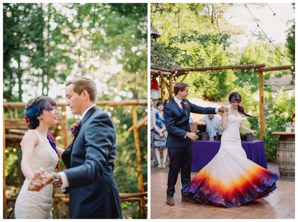 Как сделать свою свадьбу незабываемой: девушка полностью трансформировала обычное свадебное платье, разукрасив его подол - фото №4