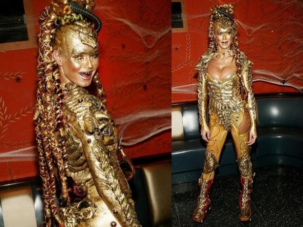 Неповторимая Хайди Клум: потрясающие костюмы супермодели на Хэллоуин - фото №3